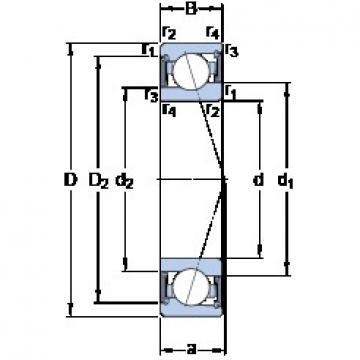 100 mm x 140 mm x 20 mm  SKF S71920 CE/P4A angular contact ball bearings