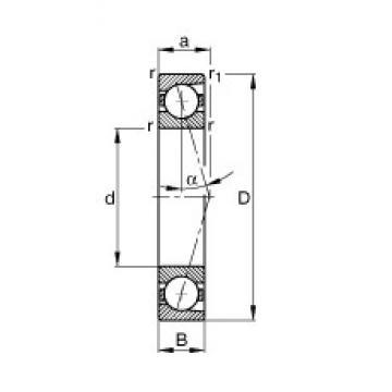 190 mm x 260 mm x 33 mm  FAG B71938-C-T-P4S angular contact ball bearings