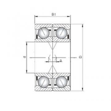 ISO 7332 BDF angular contact ball bearings