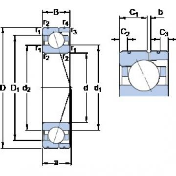 150 mm x 225 mm x 35 mm  SKF 7030 ACD/HCP4AL angular contact ball bearings