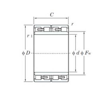 170 mm x 250 mm x 168 mm  KOYO 34FC25168 cylindrical roller bearings