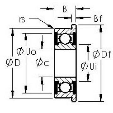 AST SMF104-2RS deep groove ball bearings