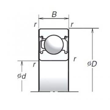 15 mm x 32 mm x 9 mm  NSK 6002T1XZZ deep groove ball bearings