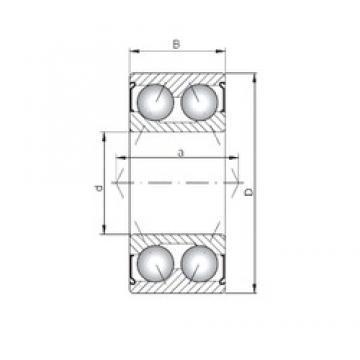 ISO 3308 ZZ angular contact ball bearings