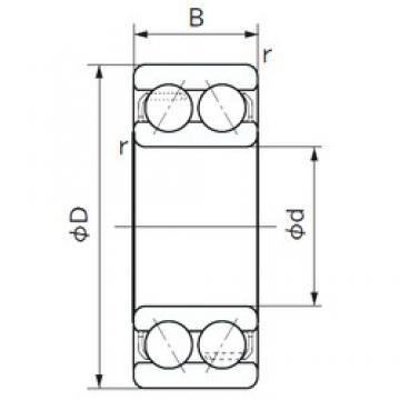 25 mm x 52 mm x 20.6 mm  NACHI 5205A angular contact ball bearings