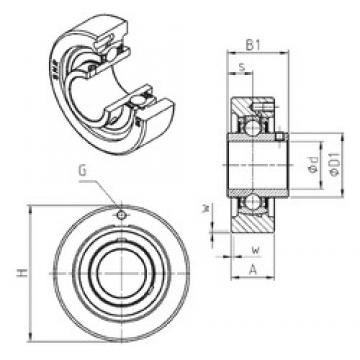 SNR UCC316 bearing units