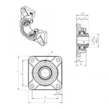SNR UKF209H bearing units