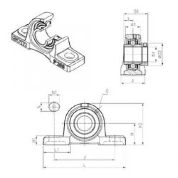 SNR EXP216 bearing units