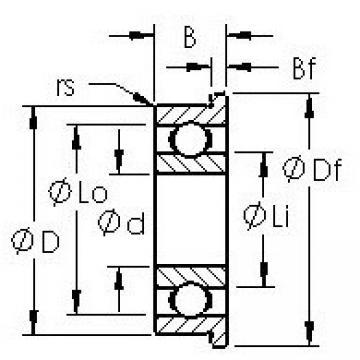 AST SMF148 deep groove ball bearings