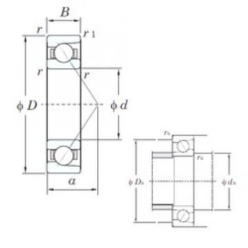 25 mm x 47 mm x 12 mm  KOYO 7005B angular contact ball bearings