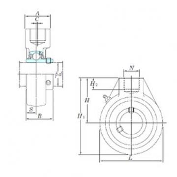 KOYO UCHA207-22 bearing units