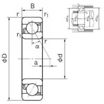 40 mm x 90 mm x 23 mm  NACHI 7308C angular contact ball bearings