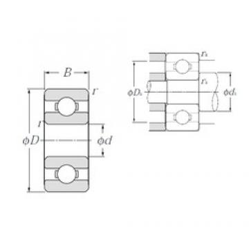 4,762 mm x 9,525 mm x 3,175 mm  NTN R166 deep groove ball bearings