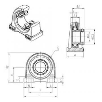 SNR ESPA207 bearing units