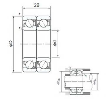 35 mm x 72 mm x 17 mm  NACHI 7207BDT angular contact ball bearings