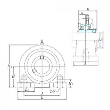 KOYO UCPA204 bearing units