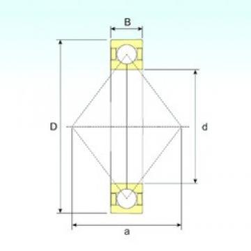 100 mm x 180 mm x 34 mm  ISB QJ 220 N2 M angular contact ball bearings