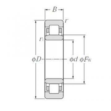 50 mm x 110 mm x 27 mm  NTN NU310 cylindrical roller bearings