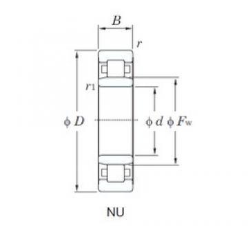 70 mm x 150 mm x 51 mm  KOYO NU2314R cylindrical roller bearings
