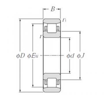 140 mm x 210 mm x 33 mm  NTN N1028 cylindrical roller bearings