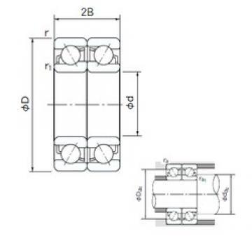 180 mm x 320 mm x 52 mm  NACHI 7236CDF angular contact ball bearings