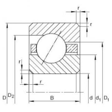 7 inch x 190,5 mm x 6,35 mm  INA CSEA070 deep groove ball bearings