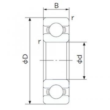 105 mm x 130 mm x 13 mm  NACHI 6821 deep groove ball bearings