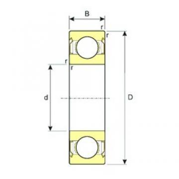 55 mm x 90 mm x 18 mm  ISB 6011-ZZ deep groove ball bearings