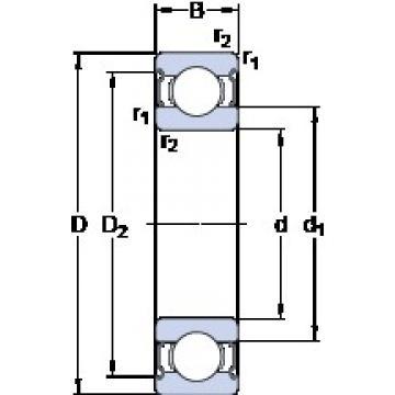 15 mm x 21 mm x 4 mm  SKF W 61702-2Z deep groove ball bearings