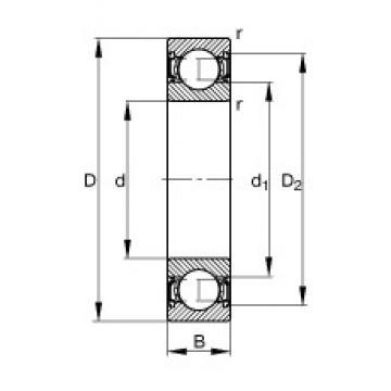 40 mm x 80 mm x 18 mm  FAG 6208-2RSR deep groove ball bearings