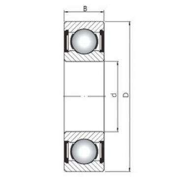 25 mm x 62 mm x 17 mm  ISO 6305 ZZ deep groove ball bearings