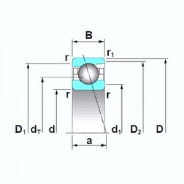 65 mm x 90 mm x 13 mm  NSK 7913A5TRSU angular contact ball bearings