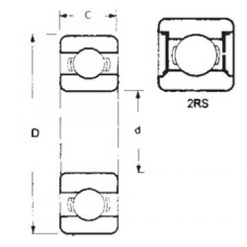 25 mm x 47 mm x 8 mm  FBJ 16005-2RS deep groove ball bearings