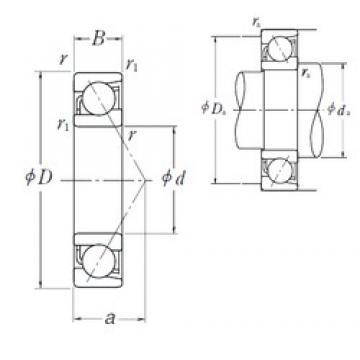150 mm x 270 mm x 45 mm  NSK 7230 A angular contact ball bearings