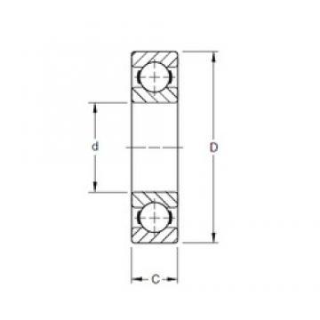 170 mm x 265 mm x 42 mm  Timken 134W deep groove ball bearings