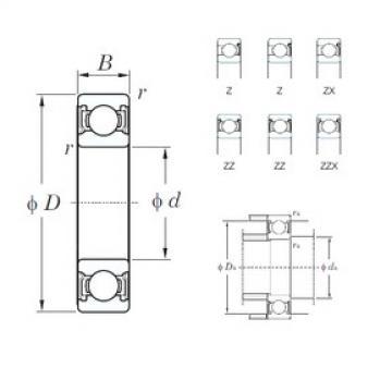 90 mm x 115 mm x 13 mm  KOYO 6818Z deep groove ball bearings