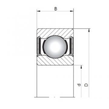 8 mm x 12 mm x 2,5 mm  ISO 617/8-2RS deep groove ball bearings