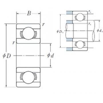 6 mm x 15 mm x 5 mm  NSK 696 deep groove ball bearings