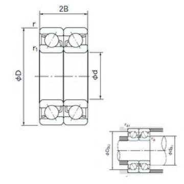 10 mm x 30 mm x 9 mm  NACHI 7200CDB angular contact ball bearings