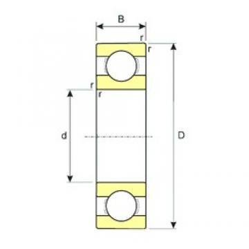 25 mm x 62 mm x 17 mm  ISB 6305 deep groove ball bearings