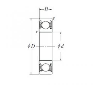 70 mm x 100 mm x 16 mm  NSK 6914DDU deep groove ball bearings