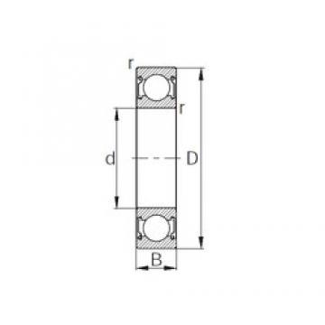15 mm x 35 mm x 11 mm  KBC 6202ZZ deep groove ball bearings