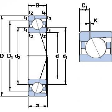 130 mm x 200 mm x 33 mm  SKF 7026 ACD/P4AH1 angular contact ball bearings
