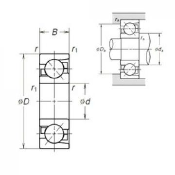 12 mm x 37 mm x 12 mm  NSK 7301BEA angular contact ball bearings