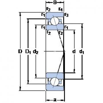 35 mm x 62 mm x 14 mm  SKF 7007 ACE/P4A angular contact ball bearings