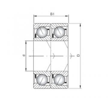 ISO 7020 CDT angular contact ball bearings