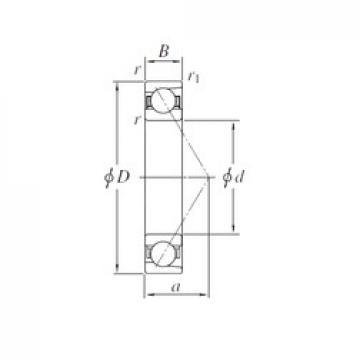 100 mm x 180 mm x 34 mm  KOYO 7220B angular contact ball bearings