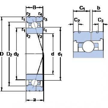 65 mm x 90 mm x 13 mm  SKF 71913 CB/HCP4AL angular contact ball bearings