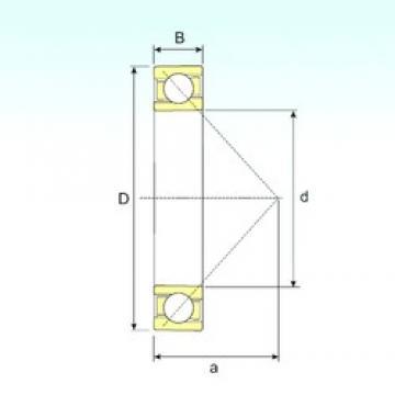 600 mm x 730 mm x 42 mm  ISB 708/600 A angular contact ball bearings
